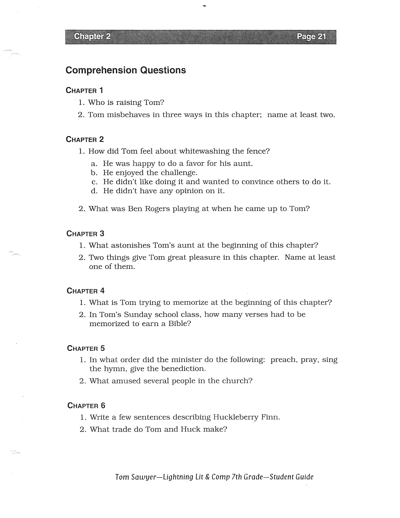 essay questions on huckleberry finn In this lesson, we will take a look at some possible essay topics from mark twain's the adventures of huckleberry finn these topics will be.